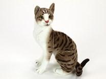 Plyšová kočka hnědošedá HMRA46T