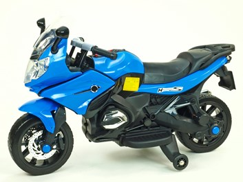 Dětská silniční závodní motorka 12V modrá