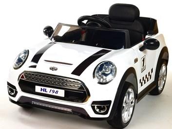 Dětské elektrické autíčko Morísek bílá SLOŽENÝ