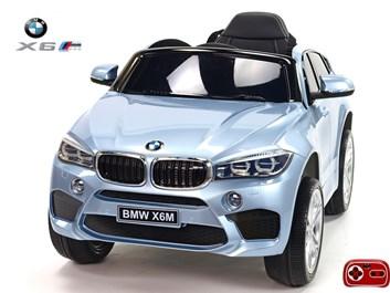 Dětské elektrické autíčko SUV BMW X6M jednomístné, šedé