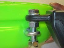 připojení k traktoru  JS318  který není vybaven  okem pro zapojení vleku