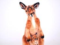 Plyšový klokan s mládětem