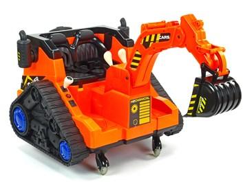 Dětský elektrický bagr oranžový
