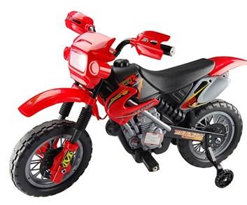 Dětská motorka cross- červená SLOŽENÁ