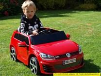 Dětské elektrické autíčko licenční VW Golf GTI - FJ528.red