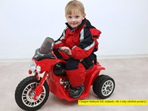 Dětská elektrická motorka Policie černá
