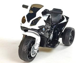 Dětská leketrická motorka BMW Mini Trike bílo-černá složená