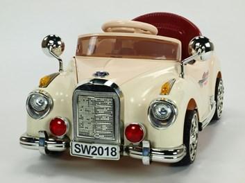 Dětské elektrické autíčko Kuba Retro mini s 2.4G DO, plynulým rozjezdem, béžové