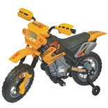 Dětská motorka cross- žlutá