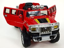 Dětské elektrické auto H2 Extender 2,4G dálkový ovladač  červené