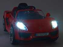 Porsche 918 s 2.4G DO, EVA kola, 12V, licence 918.red