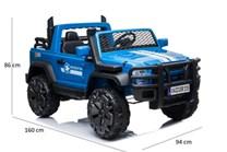 Auto pro 2 děti JUMBO  INTERCEPTOR s 2,4G RC , modrá barva