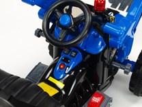 Dětský elektrický traktůrek Kingdom se lžící - modrý