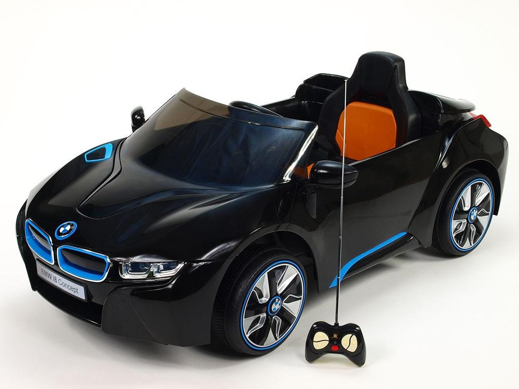 Dětské el. auto BMW I8 Concept LUX černá FOTO DÁLKOVÉHO OVLADAČE POUZE ILUSTRATIVNÍ