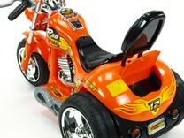 Dětská elektrická motorka Red Hawk oranžová