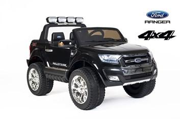 Dětské Licenční el. autíčko pro 2 děti Ford Ranger Wildtrak 4x4, černá lakovaná barva