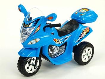 Dětská el. motorka malá Connect s kufříkem modrá