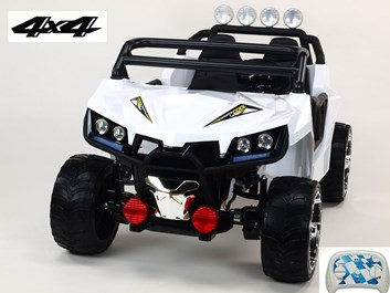 Dvoumístná Buggy Cool sport 4x4, náhon 4 EVA kol, s 2.4G DO, USB, TF, Mp3, čalouněnou sedačkou 54cm, nádherným LED osvětlením,bílá