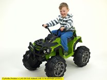 Dětská elektrická čtyřkolka Predátor zelená
