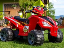 Dětská čtyřkolka Raptor 12V červená