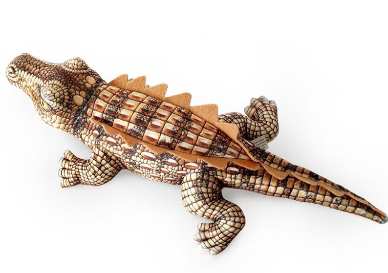 Plyšový krokodýl  hnědý