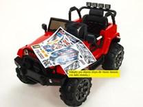 Dětské elektrické autíčko džíp Wrangler LUX s 2,4G DO červená
