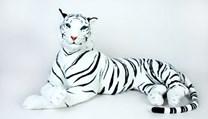 Tygr bílý plyšový 200cm