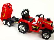 Dětský elektrický traktor 12V - ZP1007.red