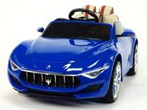 Dětské elektrické autíčko Maserati Alfieri s 2.4G dálkovým ovládáním, otvíratelné dveře, odpružení, USB, SD, MP3   SX1728.blue