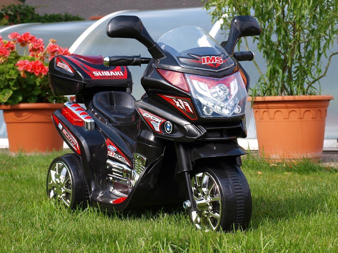 Dětská elektrická motorka Viper policie černá