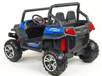 Dětská elektrická dvoumístná buggy V-Twin 4x4  s 2.4G dálkovým ovládáním ,modrá