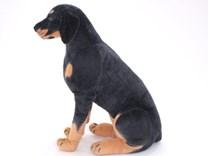 Plyšový sedící pes Rottwailer
