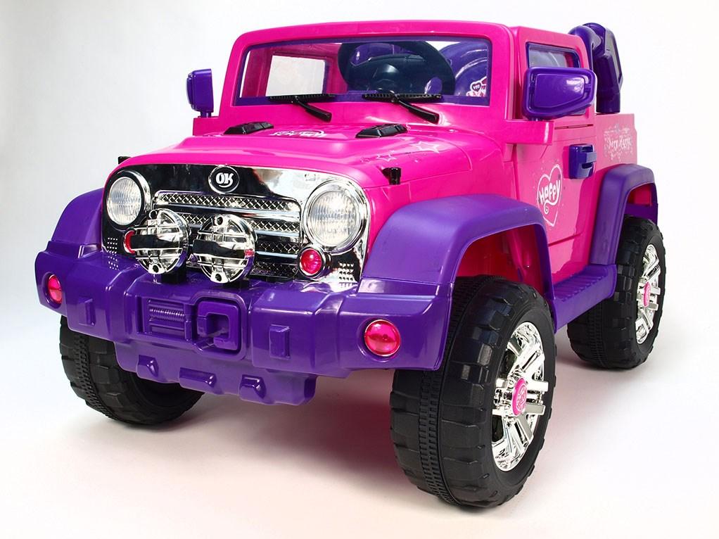 Dětský elektrický džíp Reback růžová
