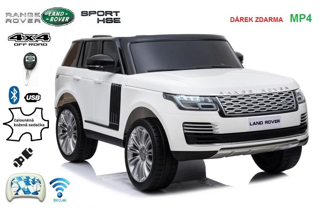 Dětské  autíčko Range Rover HSE, 4x4 pro 2 děti , bílý