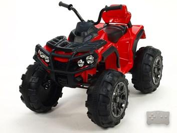 Dětská elektrická čtyřkolka Predátor LUX s dálkovým ovládáním 2,4G červená