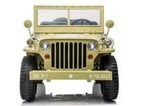 Dětský elektrický vojenský mini Jeep Willys MB - pískový