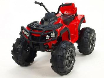 Dětská elektrická čtyřkolka Predátor červená