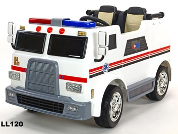 Dětské elektrické autíčko , dvoumístná sanitka  4x4 s 2,4G dálkovým ovladačem