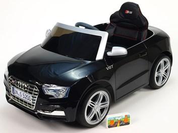 Dětské elektrické auto licenční Audi S5 -  černá -3ks