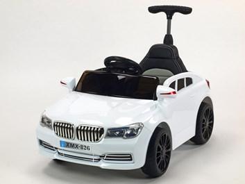 Dětské licenční el. autíčko BMW s vodící tyčí bílá SLOŽENÁ