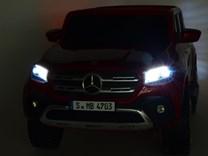 Mercedes – Benz X-Class 4x4, dvoumístný pick up s 2.4G DO, plynulým rozjezdem,USB,Mp4 přehrávač, čalouněním, EVA koly  XMX606.wine