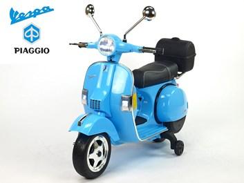 Dětský elektrický  skútr Piaggio Vespa modrá