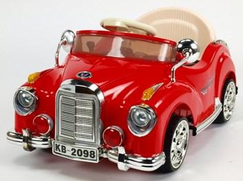 Dětské elektrické autíčko Kuba Retro mini s 2.4G DO, plynulým rozjezdem, červené