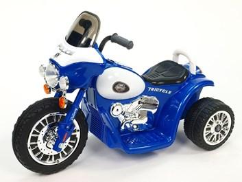 Dětská elektrická motorka Policie modrá