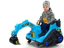 Dětský elektrický bagr  modrý - FL858O
