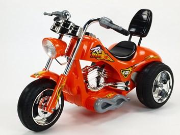 Dětská elektrická motorka Red Hawk oranžová SLOŽENÁ