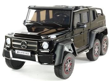 6-ti kolový Mercedes G63 AMG 4x4, dvoumístný, s 2.4G DO, plynulým rozjezdem, USB, otvíracími dveřmi, kapotou, čelem, pérováním, EVA koly  ABL1801.black