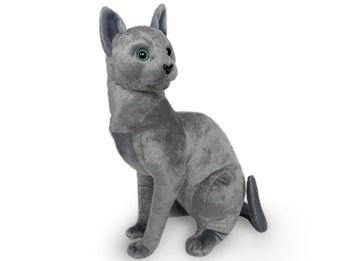 Plyšová sedící kočka Ruská modrá