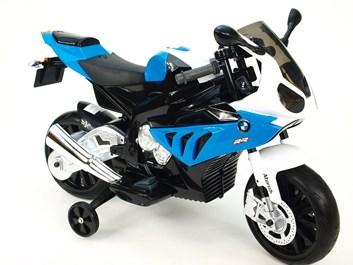 Dětská el. motorka licenční BMW modrá poslední kus