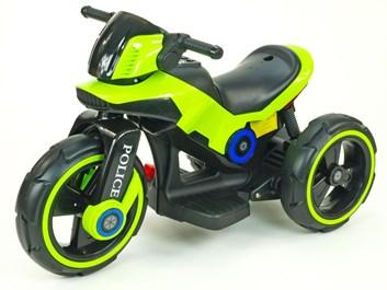 Dětská elektrická motorka VELKÁ 101cm s měkkými EVA koly,zelená